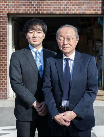 代表取締役社長 長澤 勝、営業部長 長澤 真祐